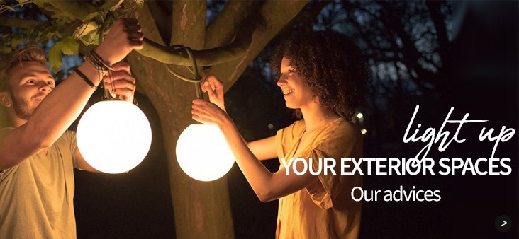 Light up your exterior spaces: our advices