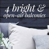 4 bright and open-air balconies
